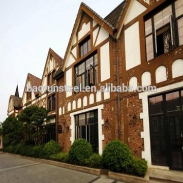 steel houses prefab home light steel villa plans/townhouse in congo