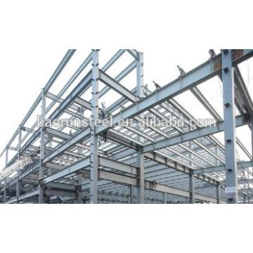Steel structure galvanized steel frame house design and construction factory plant workshop