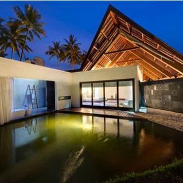 China Qingdao Baorun flat roof prefabricated steel structure house/ villa