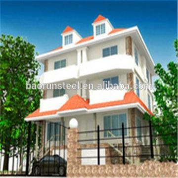 Best selling products prefab beach villa,luxury prefab steel villa with pu sandwich panel for garden