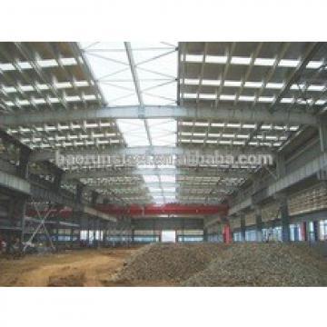 Light Prefab construction design pipe truss steel structure workshops building