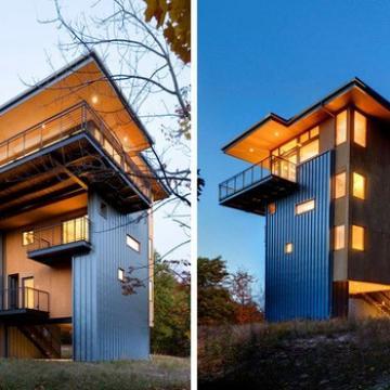 BAORUN eco-friendly Modern Light Steel Prefabricated Villa for Norway with Good Heat Preservation