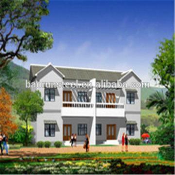 China top sale good quality luxury prefab steel villa for sale
