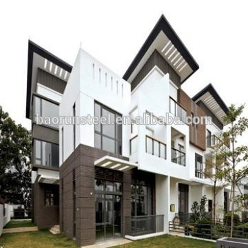 the newest design imitation wooden prefab villa