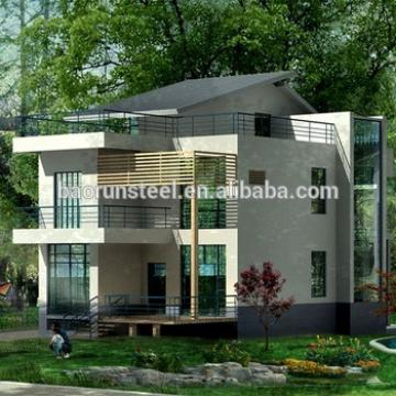 light steel structure villa with slope roof