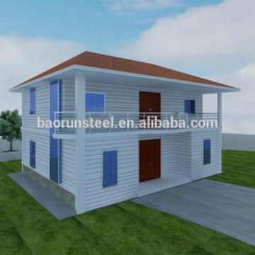 2015 new design cheap slope roof prefab house for sale