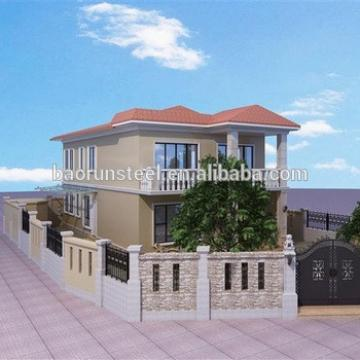 china supplier prefabricated modular houses luxury villa house