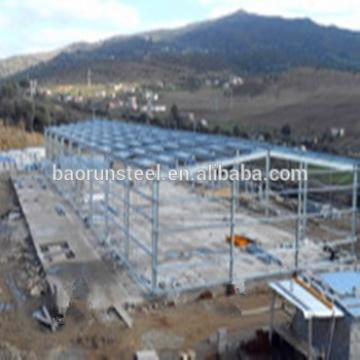 Manufacture and design cheap large span fire froof steel structure warehouse project