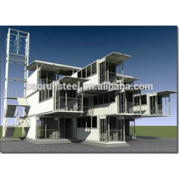 SGS ISO9001 certificated prefabricated container accommodation steel structure building