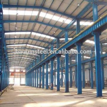 Big span light steel frame/prefab steel warehouse/prefab steel factory