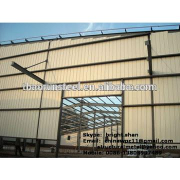 Baorun large span prefab construction design steelstructure warehouse