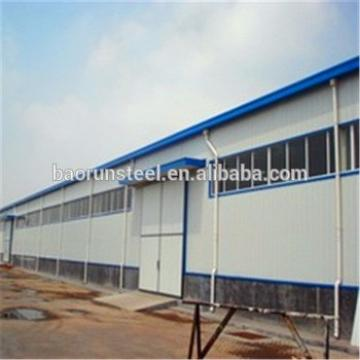 light metal building construction gable frame prefabricated industrial warehouse structure