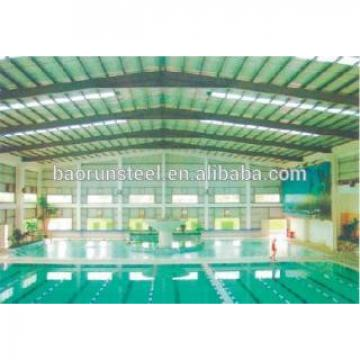2015 Baorun prefabricated steel swimming pool roof frame structure