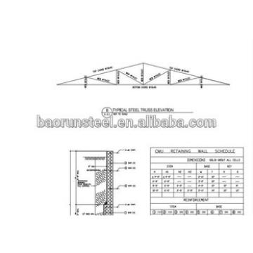 low cost prefab warehouse light steel structure factory shed