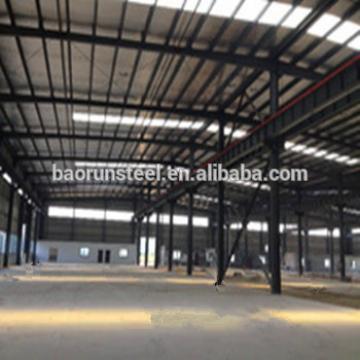 Q345B light steel construction design large span steel structure warehouse