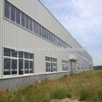 Prefab warehouse in steel structure, warehouse shed / steel structure warehouse