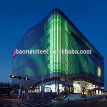 modern european style light steel structure building for big scale shopping square