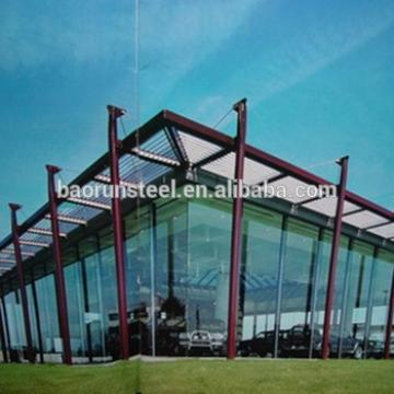customized light steel structure metal structure building for auto showroom