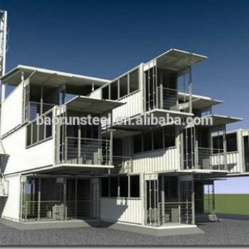 prefab stackable container houses/offices light steel structure house