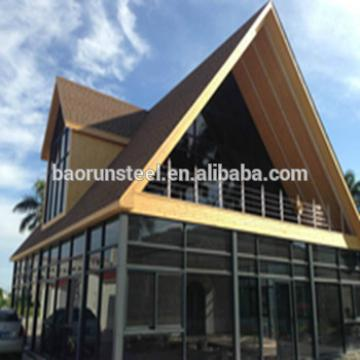 Wooden House/Fast prefabricated lovely small cabin container house villa