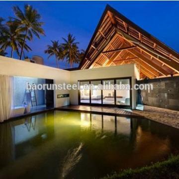 steel structure prefabricated house modular house beautiful Pacific coast villa