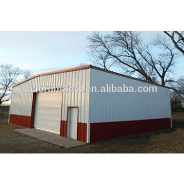 low cost steel warehouse with low roof slope