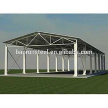Low Cost Prefabricated Light Steel Structure Aircraft Hangar