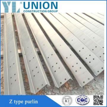 Z Shape Steel Purlin