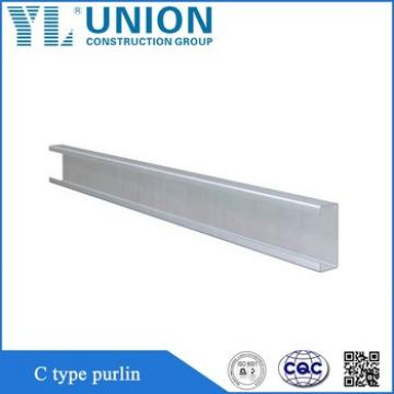 Corrosion Resistance Stainless Steel Unistrut Channel Iron Sizes C Purlin