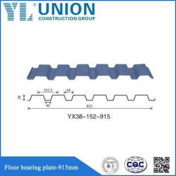 China galvanized corrugated steel sheet roofing decking /galvanized metal floor decking sheet/steel floor bearing plate