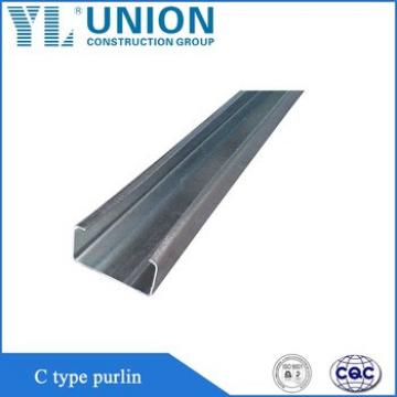 Galvanized C type purlin channel, Steel purlin