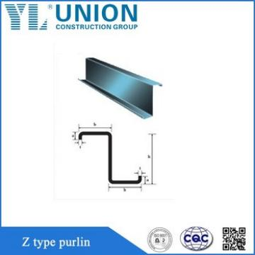 hot rolled z steel section/galvanized C Z purlin/zinc galvanized c channel