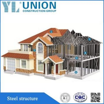 certificated prefabricated steel structure house building in china