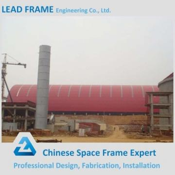 Red Color Steel Space Frame Roof Coal Stockyard Shed