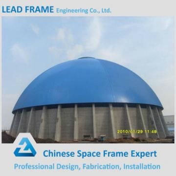 Metal space truss structure corrugated steel dome storage building