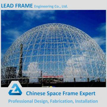 Stained steel dome space frame for coal power plant