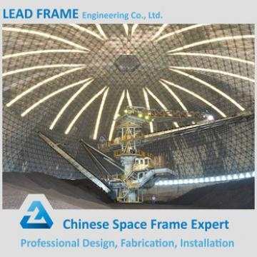 Light Steel Space Frame Dome Roof Coal Storage
