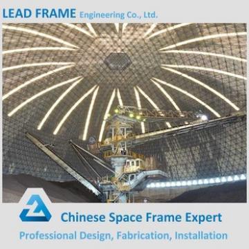 Prefabricated Steel Space Frame Long Span Coal Storage Dome