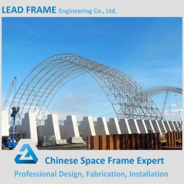 Prefab Steel Space Frame Structure Windproof Coal Shed