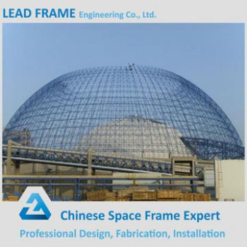 galvanized steel space frame for limestone storage domes