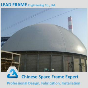long span steel space frame for limestone storage domes