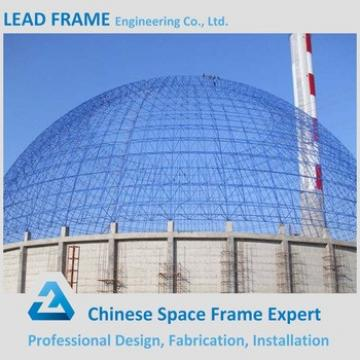 Corrugated Dome Coal Storage Shed Steel Space Frame For Power Plant