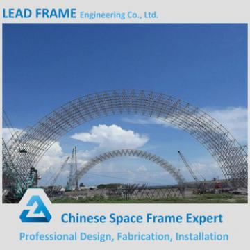 Curved Roof Structures for Light Steel Structure Space Frame Coal Warehouse