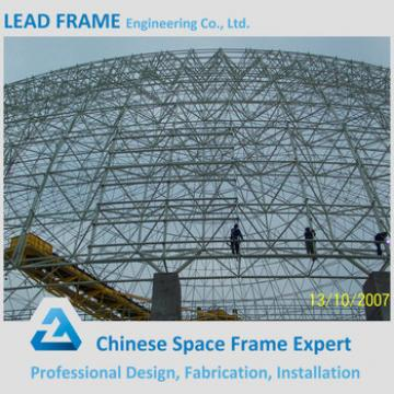 flexible customized design steel space frame for limestone storage domes