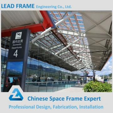 Customized space frame prefab steel roof trusses building