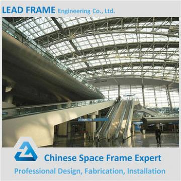 Space frame railway station steel roof truss design