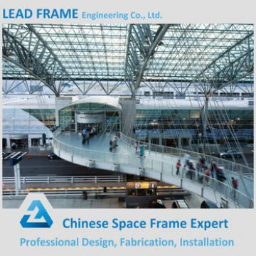 Prefabricated steel airport station with roof cover