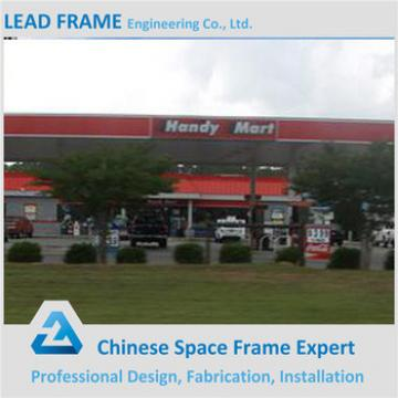 Prefab Space Frame Structure Service Station with Steel Roof System