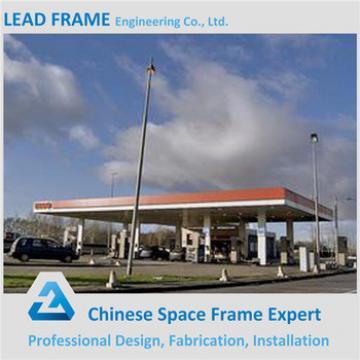 Light Steel Structure Prefab Building Gas Filling Station