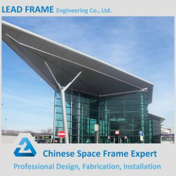 Galvanized and prefab space frame roofing for train station